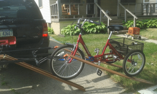 Tricycle ramps for car carrier