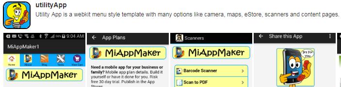 Utility app template