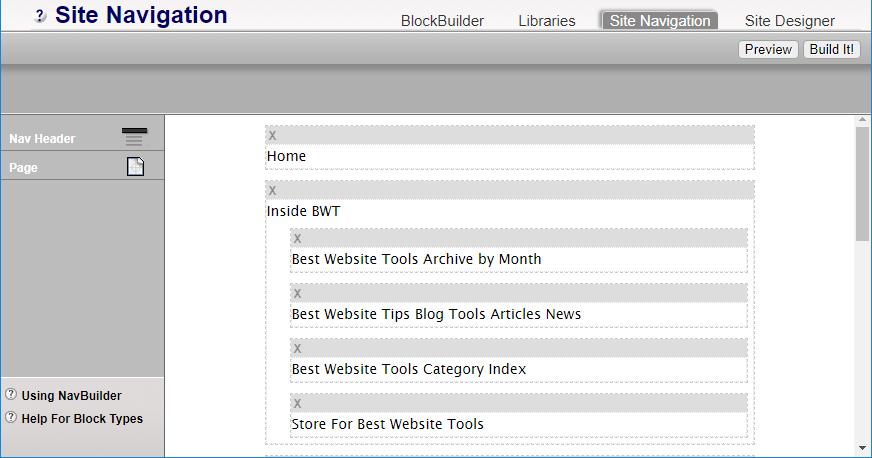 Site NAvigation Tool