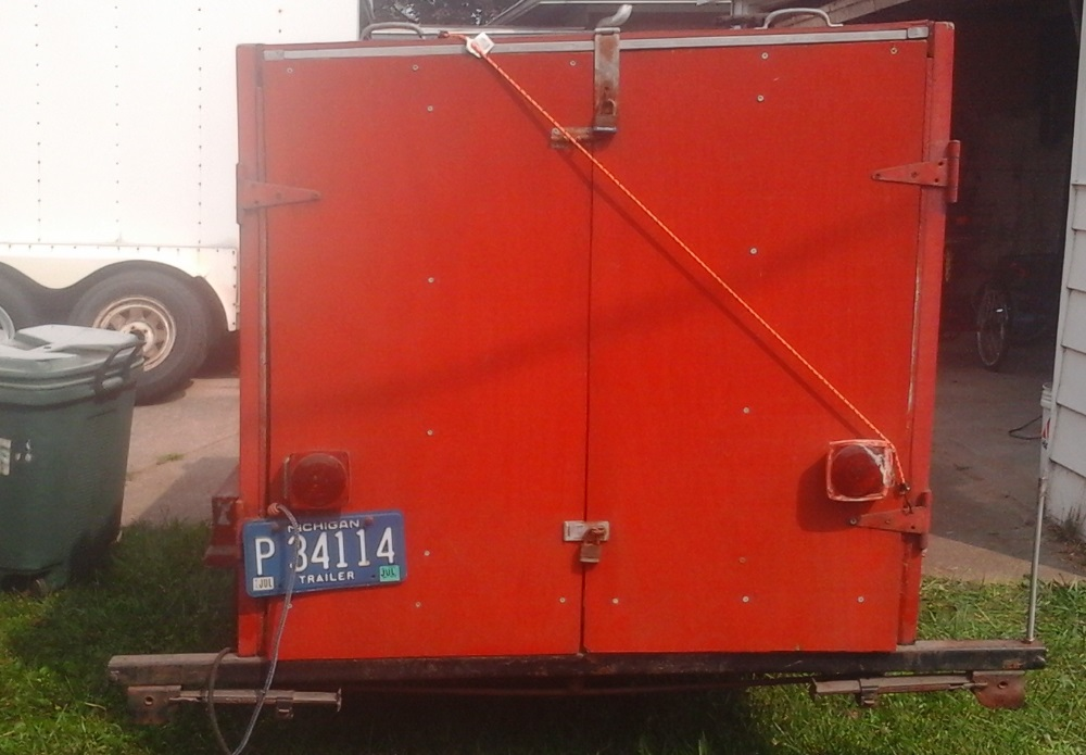 Rear of Little Red Trailer