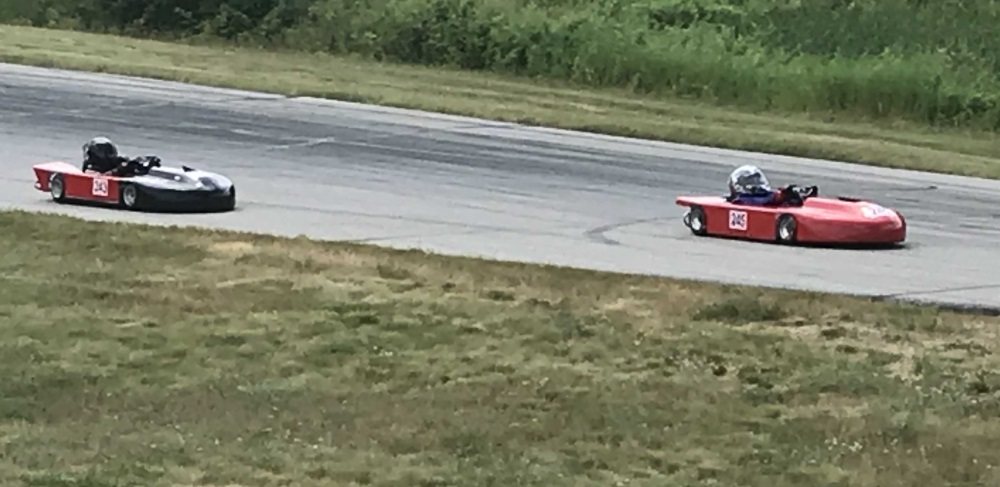 Racing for the lead in Controlled Limited