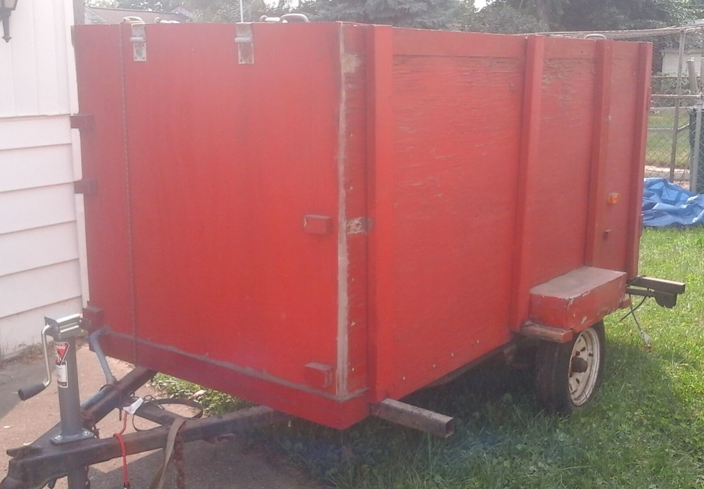 Right Side of Little Red Trailer